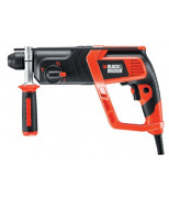 ПЕРФОРАТОР BLACK&DECKER KD975K SDS-PLUS, 710ВТ, 1.8ДЖ, 980 ОБ/МИН