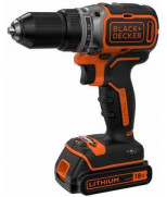 BLACK&DECKER BL186KB, ШУРУПОВЕРТ  БЕСЩЕТ, 18V, 52НМ, LI-ION, 2АКК