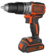 BLACK&DECKER BL188KB, ШУРУПОВЕРТ  УДАРНЫЙ, БЕСЩЕТ, 18V, 52НМ, 2АКК